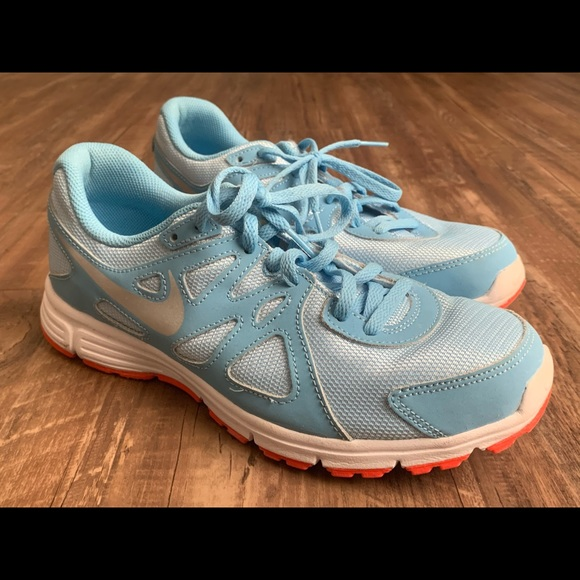 Nike Shoes | Nike Powder Blue And Red